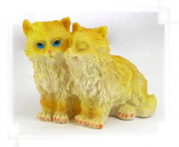 Spardose Katzenpaar aus Steinharz