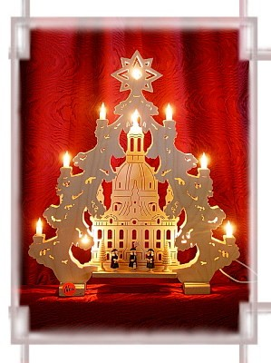 Lichterspitze Frauenkirche 2D mit Kurrendefiguren