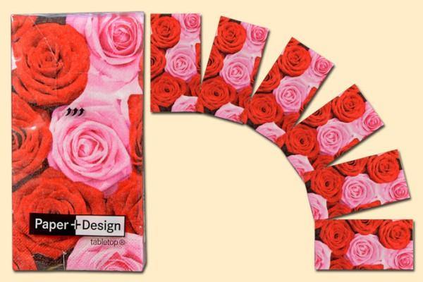 Taschentuch Motiv Rosen 10er Pack
