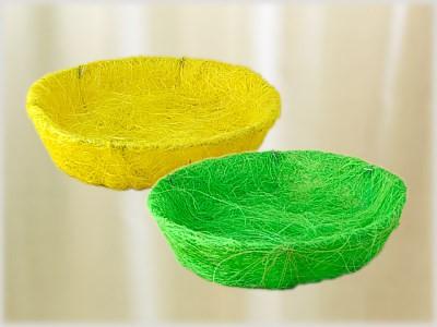 Sisal-Osterkörbchen zum Befüllen & Dekorieren