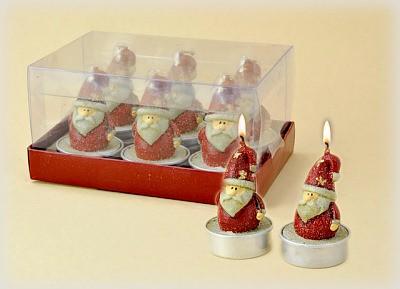 Weihnachtsmann Teelichte 6-teiliges Set