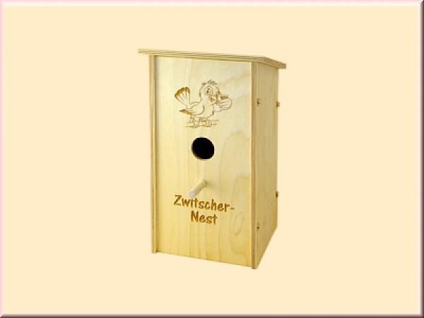 Nistkasten - Zwitschernest mittelgroß (u.a. Blaumeise)