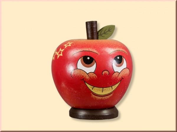 Räucherfigur Apfel aus Holz