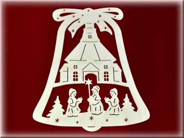 Fensterbild Glocke Seiffner Kirche einfach