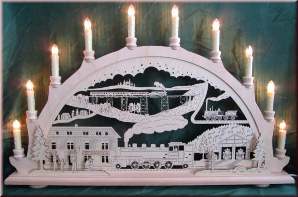 Schwibbogen Eisenbahn 10-flammig mit Figuren