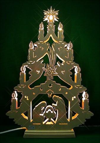 Lichterspitze Christgeburt indirekt beleuchtet