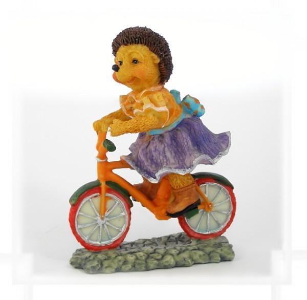 Igelmädchen auf Fahrrad
