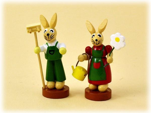 Hasenmann und Hasenfrau klein 2er Set