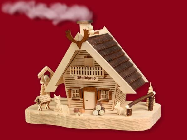Waldhaus rauchend groß mit geschnitztem Sockel