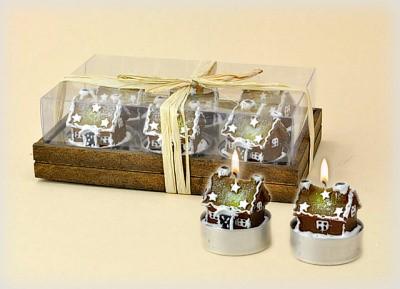 Lebkuchenhaus Teelichte 6-teiliges Set
