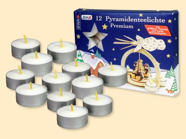 Teelichter Premium hochwertig für Pyramiden 12 Stück