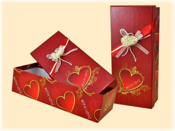 Geschenkbox im Herzdesign