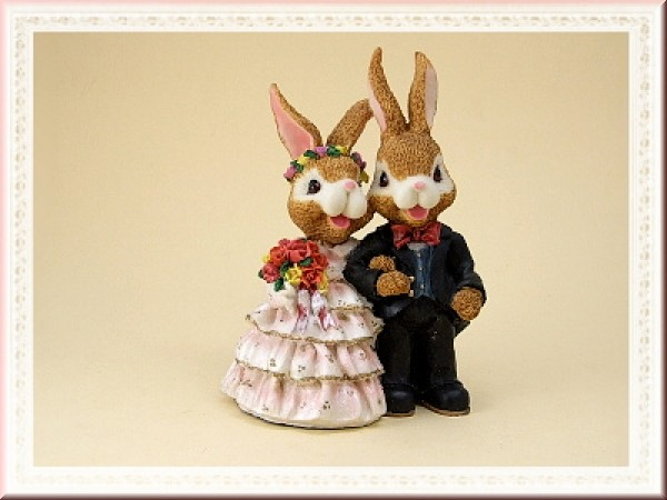 Hasen-Hochzeitspaar