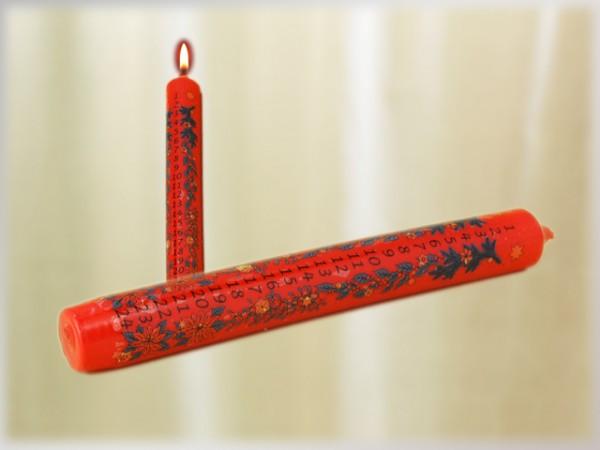 Kalenderkerze rot