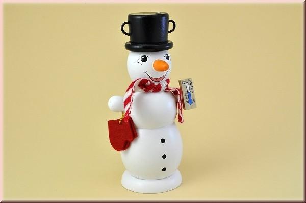 Räuchermännchen Schneemann mit Schal und Thermometer