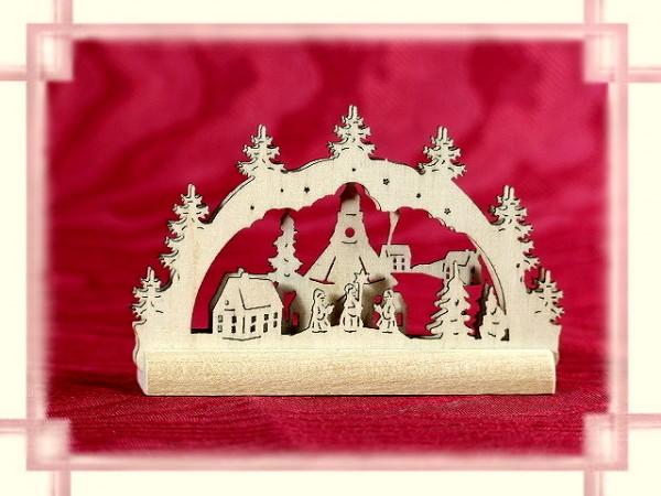 Schwibbogen Seiffner Kirche 2D Mini