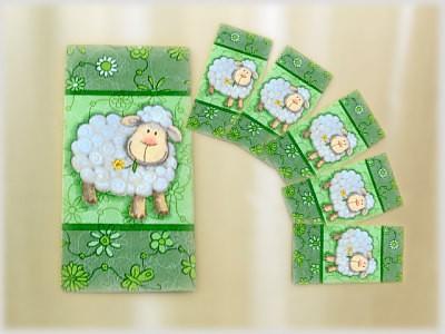 Taschentuch Motiv Lustiges Schaf 10er Pack