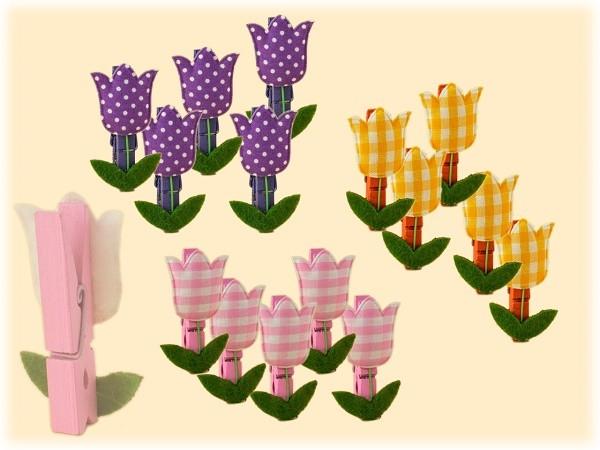 Tulpen-Kammern 15-teilig zum Dekorieren u. Basteln - 3 Varianten