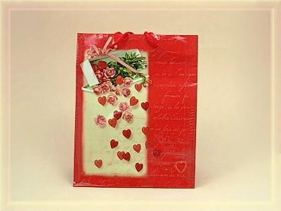 Geschenktüte Herzdesign A5
