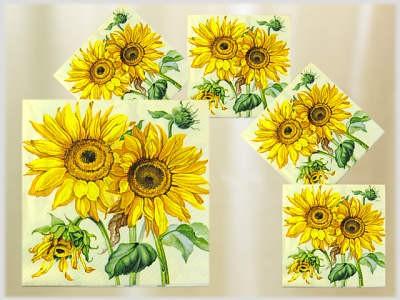 Servietten 20er Pack Motiv Sonnenblumen