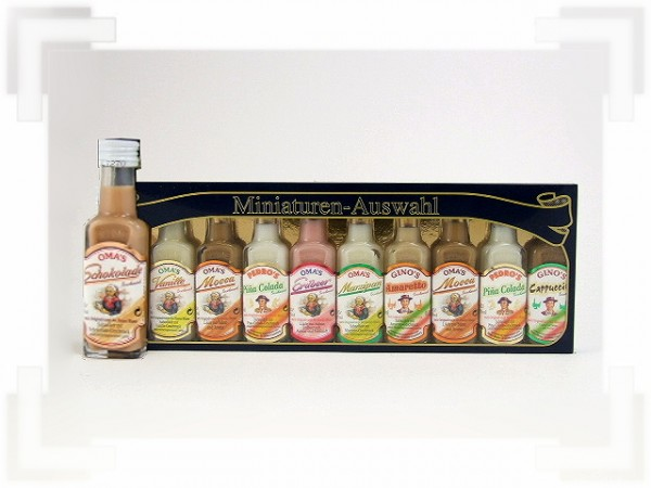 Miniaturen Auswahl Sahneliköre 10 Flaschen