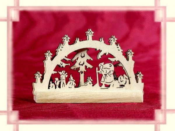 Schwibbogen Weihnachtsmann 2D Mini