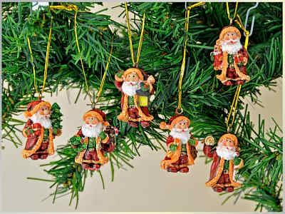 Mini-Weihnachtsmann zum Hängen