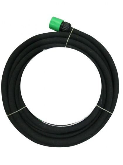 Bewässerungsschlauch schwarz mit Schlauchstück, Perlschlauch