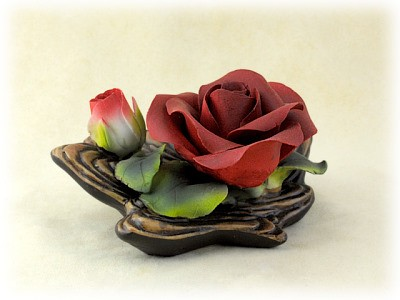 Porzellan Blume rote Rose