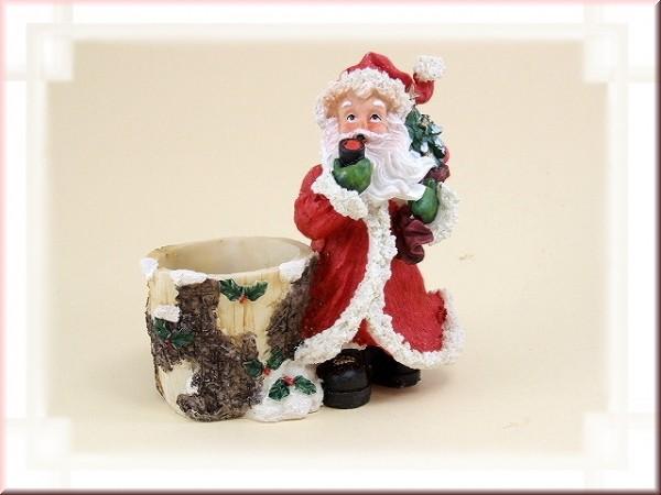 Weihnachtsmann mit Füllgefäß