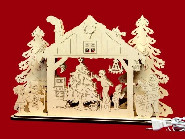 Fensterlandschaft Weihnachtshaus