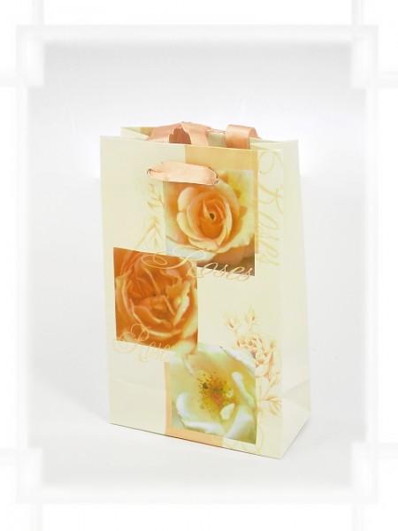Geschenktüte Rosen mit Band A6