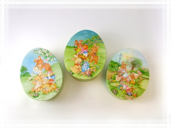 Geschenkbox Ostern zum Befüllen groß