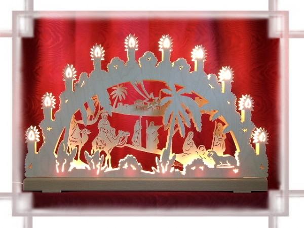 Schwibbogen Christgeburt 3D 16-flammig