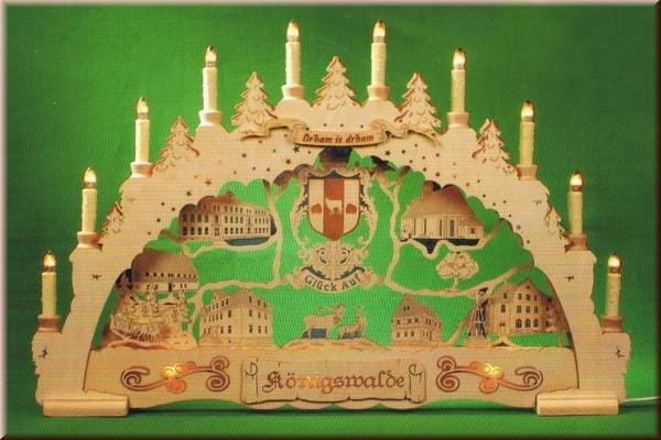 Schwibbogen Königswalde 3D indirekt beleuchtet
