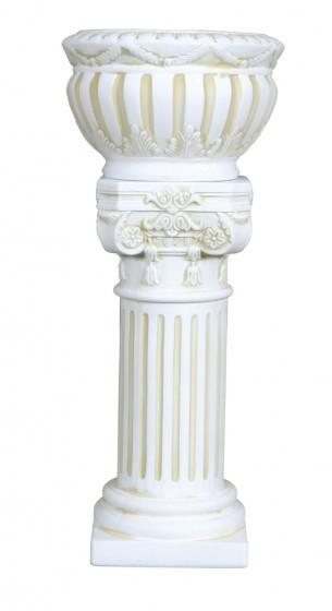 Säule CHRISTOS mit Pflanzgefäß rund Höhe 69cm
