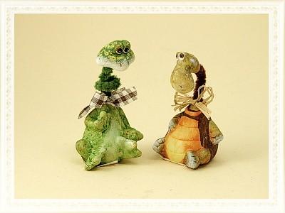 Comic Schildkröte & Frosch