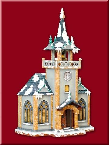 Winterkind Haus Kirche 21x31cm