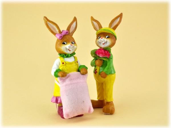 Hasenmann und Hasenfrau stehend Comic