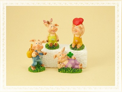 Glücksschweinchen zum Aufkleben