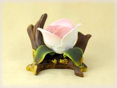 Porzellan Blume weiße Rose