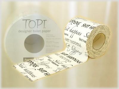 Toilettenpapier Schriftzug Shit Happens