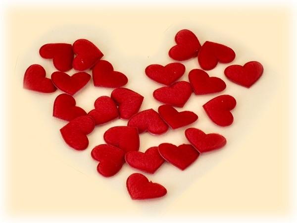 Herz Aufkleber 24-teiliges Set