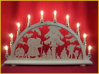 Schwibbogen Weihnachtsmann 10-flammig