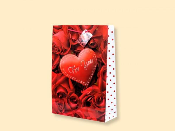 Geschenktüte Rosen ''For You'' A5