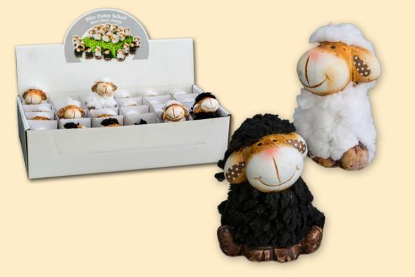 Schaf mit Plüschfell, 3 Stück