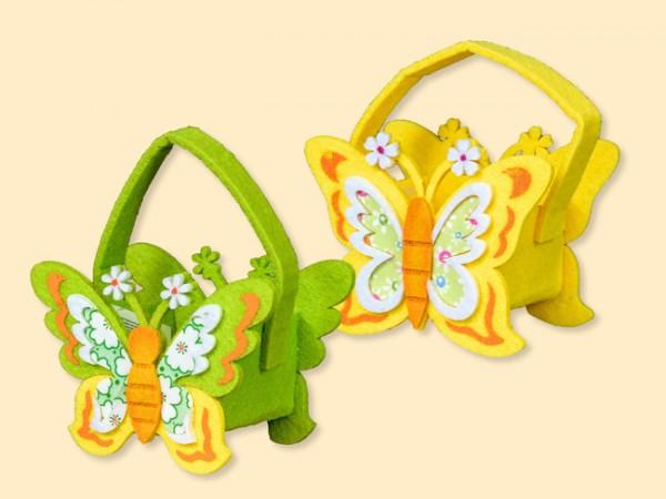 Tasche Schmetterling aus Filz für kleine Geschenke, 2 Stück