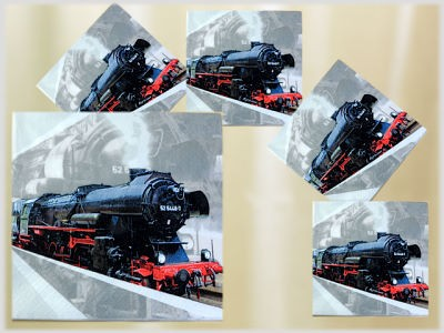 Servietten 20er Pack Motiv Lokomotive