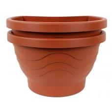 Pflanzgefäß für Regenfallrohre D26cm Terracotta 2er Set
