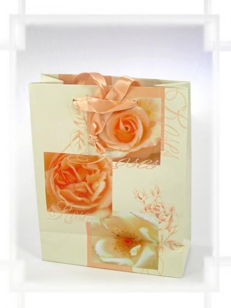 Geschenktüte Rosen mit Band A5